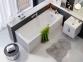 Акриловая прямоугольная ванна KOLO Modo слив посередине 180x80 XWP1181 0