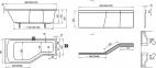 Акриловая ванна Ravak BeHappy 160 x 75 правосторонняя C161000000 3