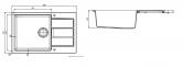 Кухонная мойка Franke Sirius Tectonite SID 611-78 XL Сахара 114.0497.953 0