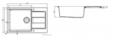 Кухонная мойка Franke Sirius Tectonite SID 611-78 XL Маскарпоне 114.0497.955 0