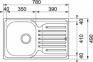 Кухонная мойка Franke Polar PXL 611-78 декор + смеситель Narew 35 Plus + сифон 101.0444.131 2