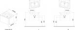 Подвесная тумба с дверцей Ravak 10 Degree 55 правосторонняя, белый X000000742 2