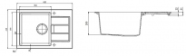 Кухонная мойка Franke Sirius Tectonite SID 611-62 Slim Маскарпоне 114.0497.940 0