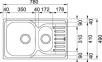Кухонная мойка Franke Polar PXL 651-78 оборотная 101.0377.282 декор 2