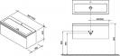 Тумба под умывальник подвесная Ravak Clear SD 800 X000000758 фасад черешня 7