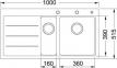 Кухонная мойка Franke Mythos Fusion MTF 651-100 крыло слева Белый 114.0156.977 0