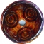 Раковина стеклянная KRAUS GV-630-19MM  коричневая 3