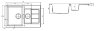 Кухонная мойка Franke Sirius Tectonite SID 651-78 Маскарпоне 114.0497.987 0