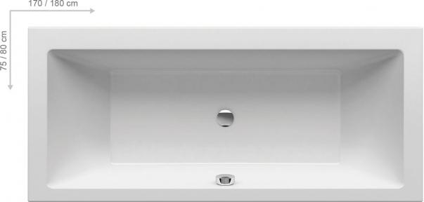 Акриловая ванна Ravak Formy 01 170x75 C691000000