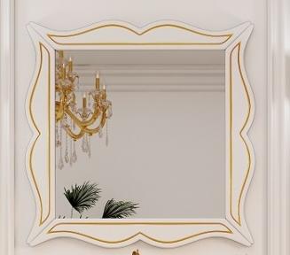 Зеркало в раме Marsan Arlette 100 белое золото