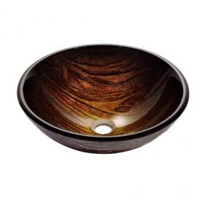 Раковина стеклянная KRAUS GV-394-19MM коричневая