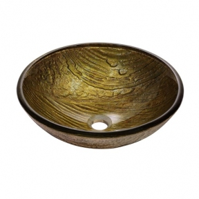 Раковина стеклянная KRAUS GV-395-19MM коричневая