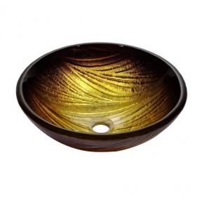 Раковина стеклянная KRAUS GV-390-19MM коричневая
