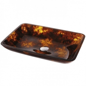 Раковина стеклянная KRAUS GVR-410-RE-15MM коричневая