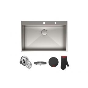 Кухонная мойка  ручной работы нижнего монтажа Kraus KP1TS33S-4
