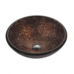Раковина стеклянная KRAUS GV-571-19MM коричневая