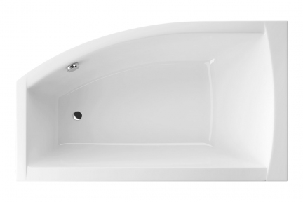 Акриловая ванна асимметричная левая 1500х855 Excellent Magnus WAEX.MGL15WH