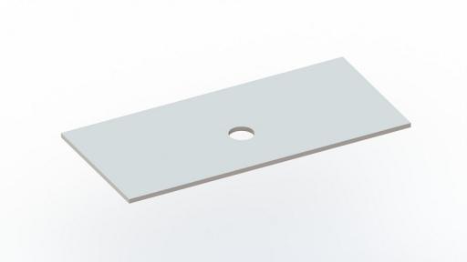 Столешница под умывальники Snail «Артемида»150х55см С 127А100МС белая матовая