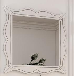 Зеркало в раме Marsan Arlette 85 белое серебро