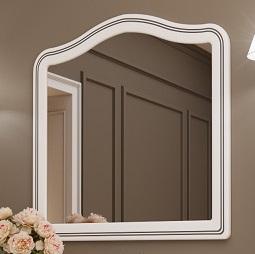 Зеркало в раме Marsan Melissa 105 белое серебро