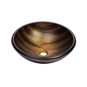 Раковина стеклянная KRAUS GV-695-19MM коричневая
