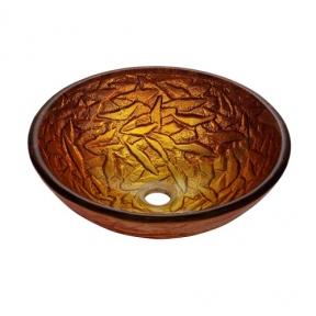Раковина стеклянная KRAUS GV-392-19MM коричневая