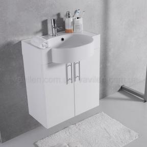 Тумба с умывальником Fancy Marble Ibiza 60 (ШН-612) белая (0905101)