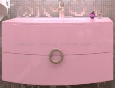 Тумба с умывальником Marsan Beatrice 900 розовая