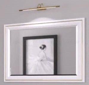 Зеркало Marsan Cassandre 870*670 белое
