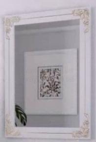 Зеркало Marsan Jacquelyn белое + золото/серебро 900