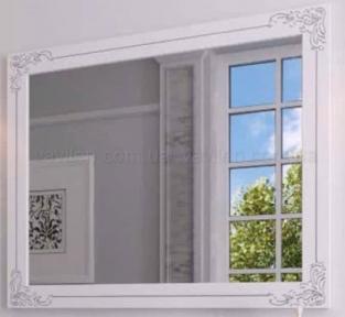 Зеркало Marsan Jacquelyn белое + золото/серебро 1200